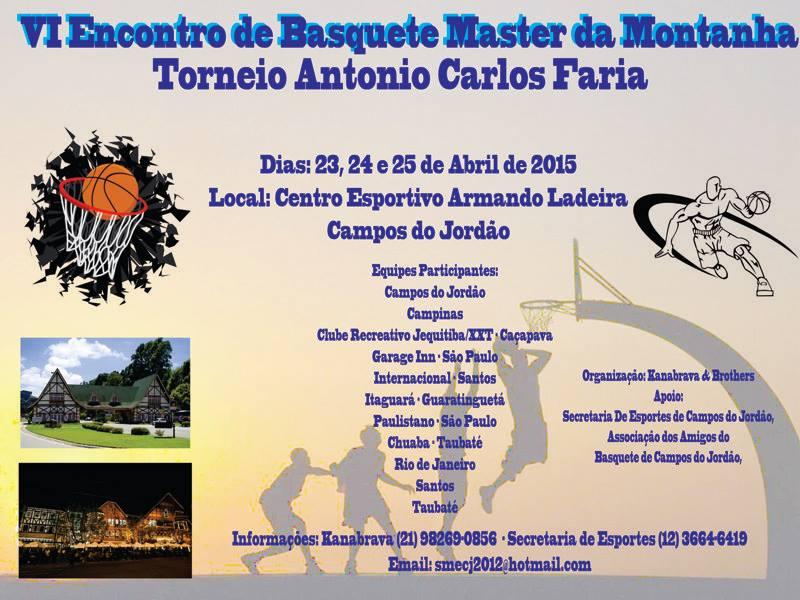 Banner da VI Encontro do Basquete Master