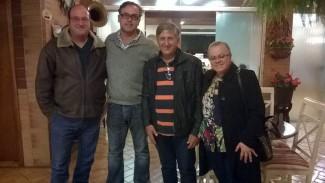 Paulo Costa (Grupo Cozinha da Montanha), José Carlos Carvalho (Sec. de Turismo), José Fernandez Franco (COMTUR Socorro-SP), Gloria Bravin (Sec. Adjunta de Turismo) - Foto José Everardo