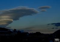 Nuvens encantam em Campos do Jordão na manhã dessa 5ª feira