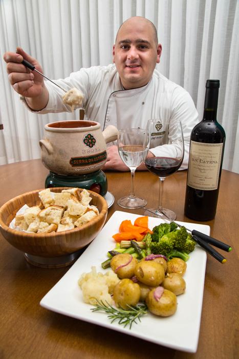 Chefe Diogo Venancio Campanha do Restaurante Vegetariano Alquimia