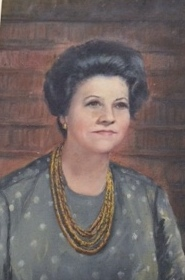 Quadro doado por Lenyra Camargo Fraccaroli e exposto permanentemente na Biblioteca que leva o seu nome