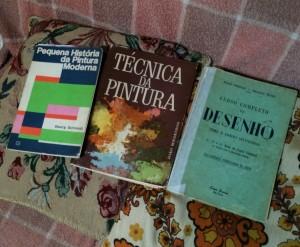 Os livros de arte, paixão desde sempre, adquiridos ao longo da vida