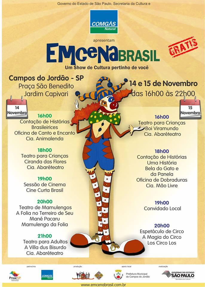 Programação Completa EmCena Brasil - Campos do Jordão