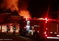 Incêndio destrói construção no Alto do Morro do Elefante; Local já foi restaurante, boate e até Gabinete do Prefeito