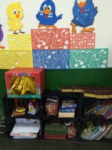 O teatro de marionetes na sala da professora Karen