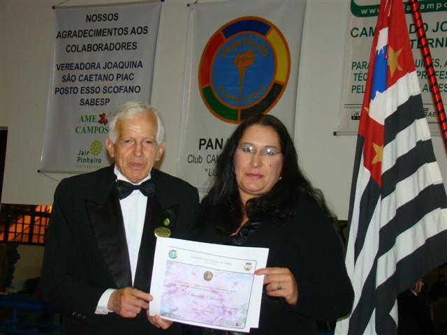 Sr. Oswaldo recebeu homenagem do Panathlon Club de Campos do Jordão