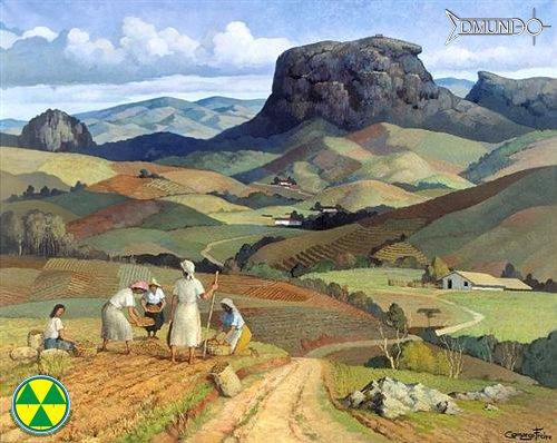 Vale do Baú, um dos quadros mais lindos pintados por Camargo Freire