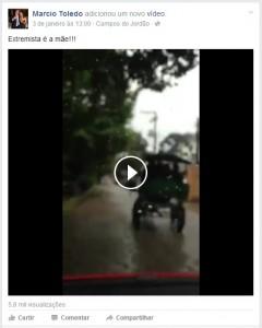 Clique para ver o vídeo na rede social.