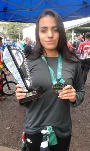Atleta Isabelle Milene da equipe de Bicicross de Campos do Jordão