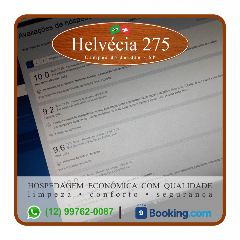 Helvecia 275 - Hospedagem econômica , com segurança e qualidade