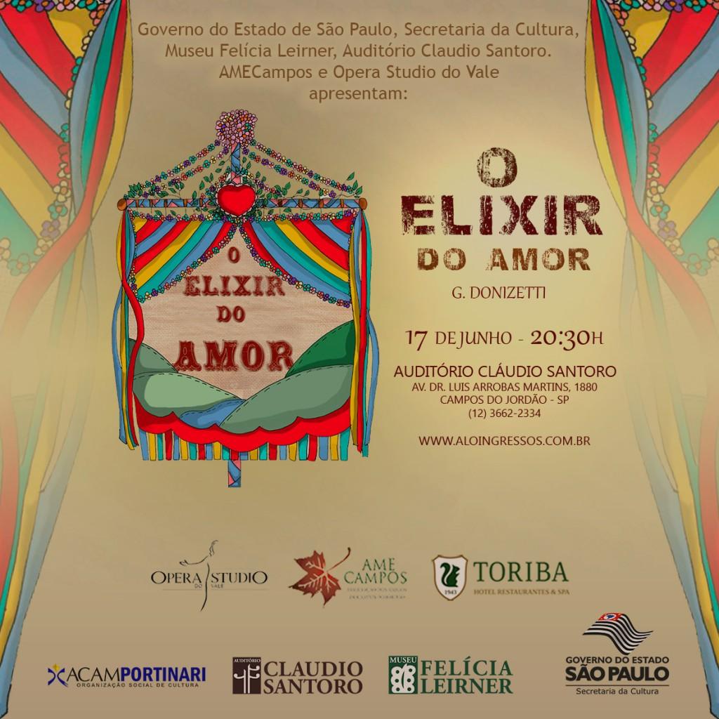 Arte Principal Elixir do Amor Campos - Venda de Ingressos