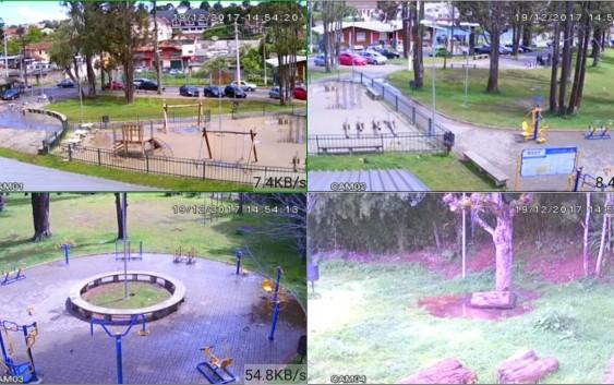 Parque dos Cedros passa a ser monitorado por câmeras de segurança em tempo real
