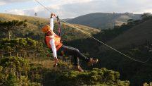 Tirolesa - Uma das atividades mais bacanas de se fazer em Campos do Jordão