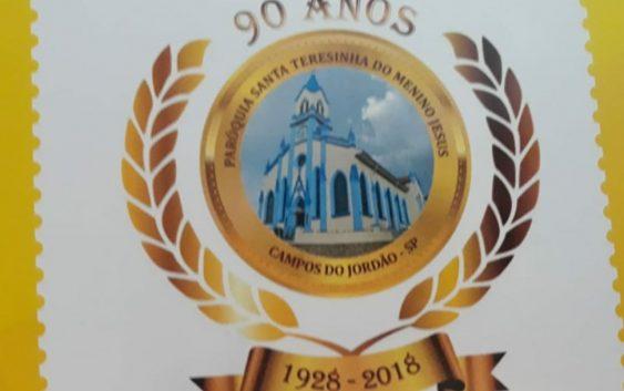 Paróquia de Santa Teresinha comemora 90 anos com Bencão do Papa Francisco, exposição, revista, selo e eventos especiais