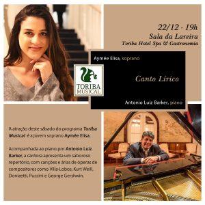 Toriba Musical apresenta: Aymée Elisa, soprano @ Hotel Toriba