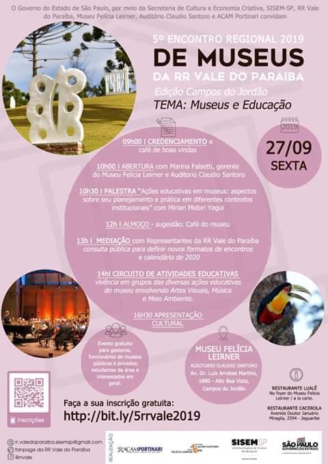 5° Encontro Regional de Museus 2019 da RR Vale do Paraíba @ Auditório Claudio Santoro