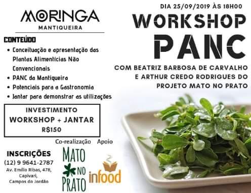 Aula e jantar com Bia e Arthur do projeto Mato no Prato, apresentando as PANC @ Restaurante Moringa Mantiqueira