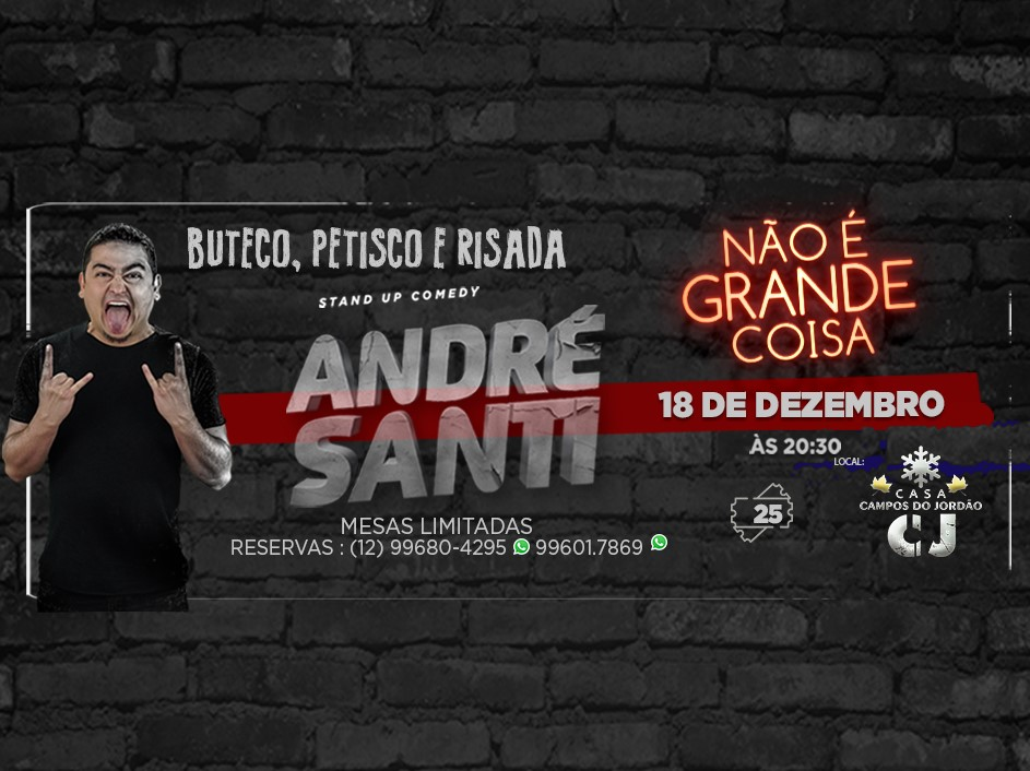 Buteco Petisco e Risada - Stand up Comedy com Andre Santi @ Casa CJ