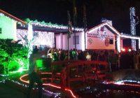 Inaugurada a iluminação de Natal do Quartel dos Bombeiros de Campos do Jordão