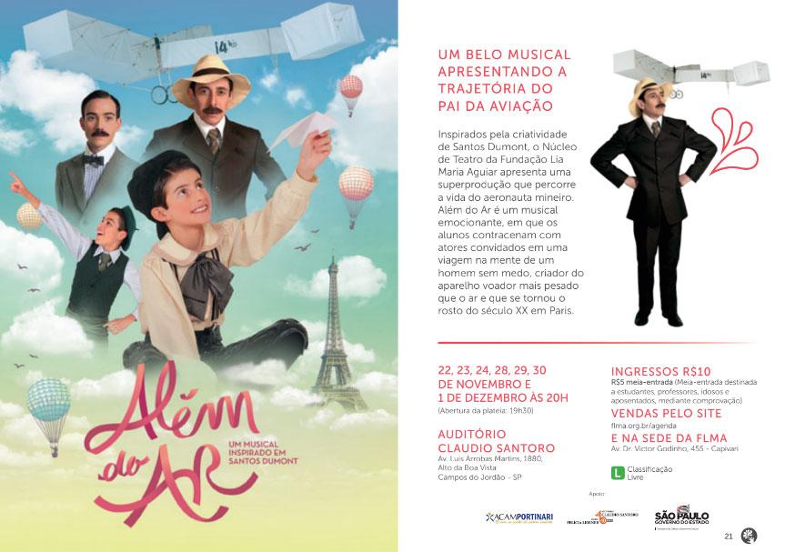 Além do Ar - Musical Inspirado em Santos Dumont @ Auditório Claudio Santoro