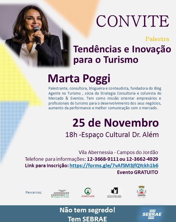 Palestra: Tendencia e Inovação para o Turismo @ Espaço Cultural Dr. Além