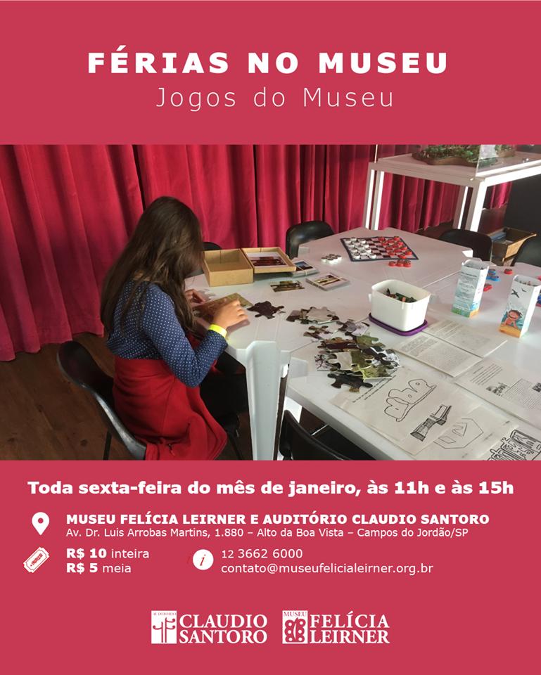 Férias no Museu: Jogos do Museu @ Museu Felícia Leirner