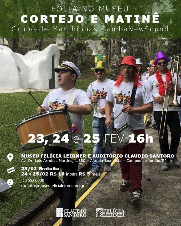 Cortejo e Matinê - Grupo de Marchinha SambaNewSound @ Museu Felícia Leirner / Auditório Claudio Santoro