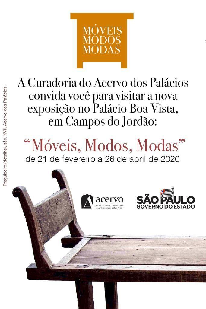 Exposição móveis, modos e modas @ Palácio Boa Vista