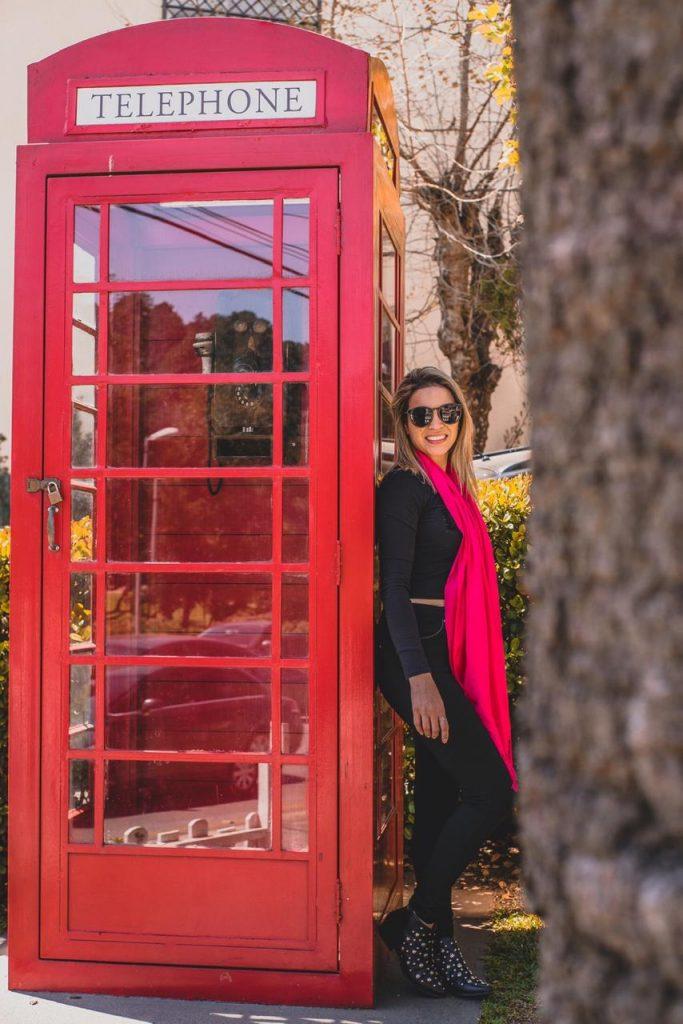 O que fazer em Campos do Jordão - Foto na cabine londrina
